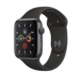 Apple watch s5 gps 44mm gris espacial con correa negra deportiva mwvf2ty/a - APPLE-MWVF2TYA