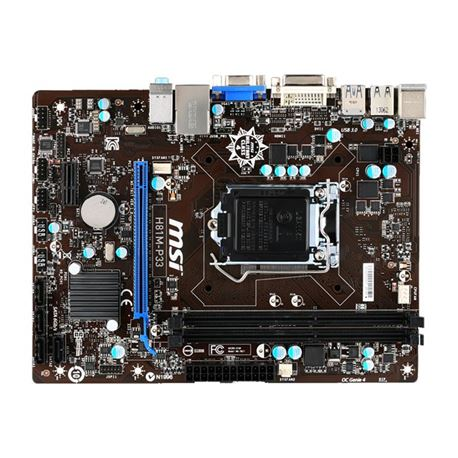 Placa msi h81m-p33 (socket 1150) microatx / vga integrada - PL-MS-H81M-P33