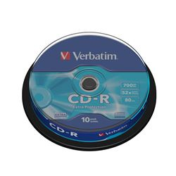 Cd pack 10 cd,s ( spindle ) verbatim ( 43437 ) - CD-VE-43437