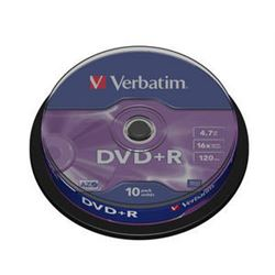 Dvd pack 10 +r ( spindle ) verbatim ( 43498 ) - DVD-VE-43498