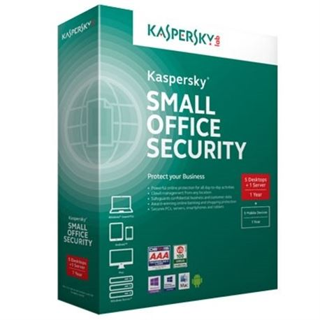 Antivirus kasperksy small office security 4 5usuarios+1serv( kl4531sbefs ) - ANT-KA-SOS4-5U