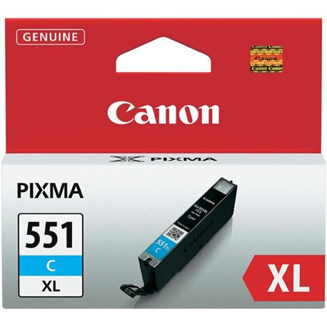 Cartucho cli551c xl ( 551xl ) (cian) canon mg5450 / mg6350 ( 6444b001 ) - CART-CLI551CX