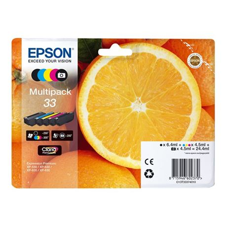 Cartucho t333740 ( 33 ) ( multipack ) epson xp530 / xp630 / xp635 / xp830 - CART-T333740