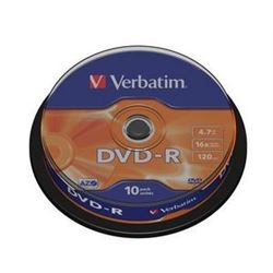 Dvd pack 10 -r (spindle) verbatim ( 43523 ) - DVD-VE-43523