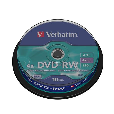 Dvd pack 10 -rw (spindle) verbatim ( 43552 ) - DVD-VE-43552