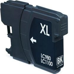 Cartucho compatible lc980bk / lc1100bk (generico) brother dcp145 / dcp185 - C-CO-LC980BK