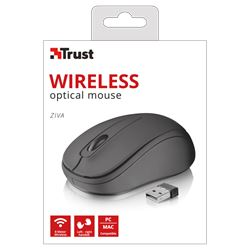 Raton trust wireless optical mouse ziva ( negro ) ( 21509 ) - RT-TR-21509