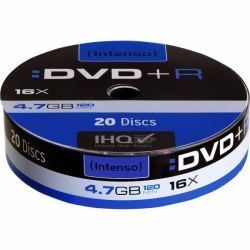 Dvd pack 20 +r (spindle) intenso ( 4111153 ) - DVD-I-4111153