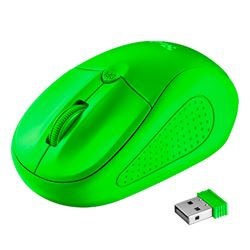 Raton trust wireless mouse primo (inalambrico)(verde neon) ( 21921 ) - RT-TR-21922