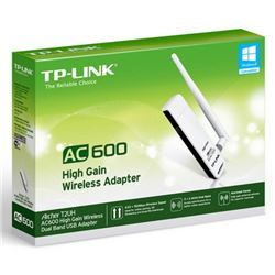 Adaptador tp-link archer t2uh ac600 high gain dual band wireless usb - RED-ARCHER-T2UH