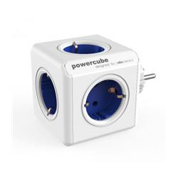 Regleta powercube 5 tomas allocacoc (azul) ( 8718444085638 ) - RE-ALLO-5638