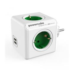 Regleta powercube 4 tomas + 2 usb allocacoc (verde) ( 8718444085737 ) - RE-ALLO-5737