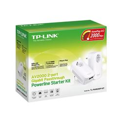 Tp-link tl-pa9020p kit av2000 2-port gigabit powerline starter kit - RED-TL-PA9020PK