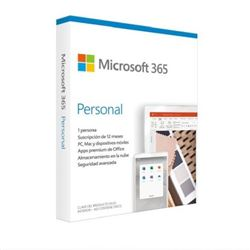 Microsoft office 365 2019 personal 1 usuario / 1 año - MS-OFF-365-19-P